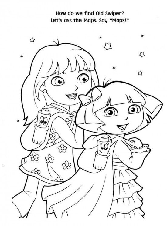 550x745 Free Printable Dora Christmas Coloring Pages Picture