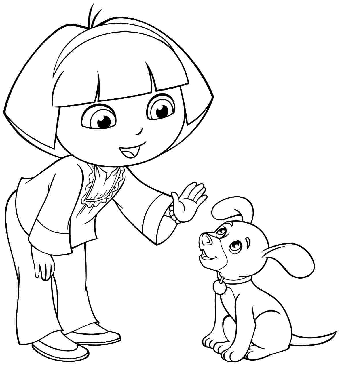 1181x1272 Image Cartoon Dora The Explorer And Friends Coloring Pages