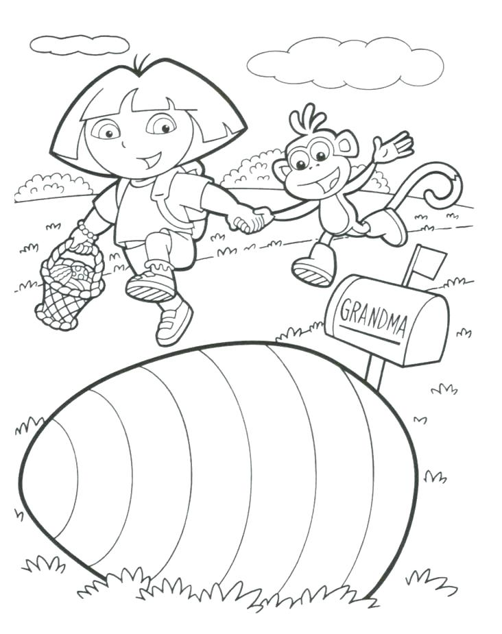 732x925 Printable Dora The Explorer Coloring Pages The Explorer Free