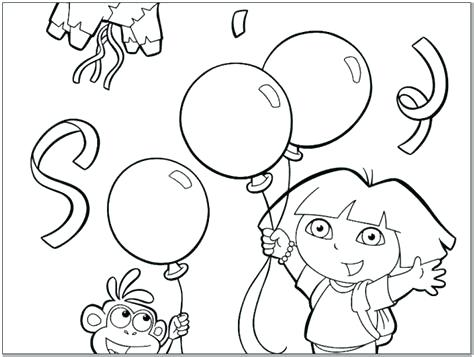 474x357 Dora Birthday Coloring Pages Happy Birthday Coloring Pages Free