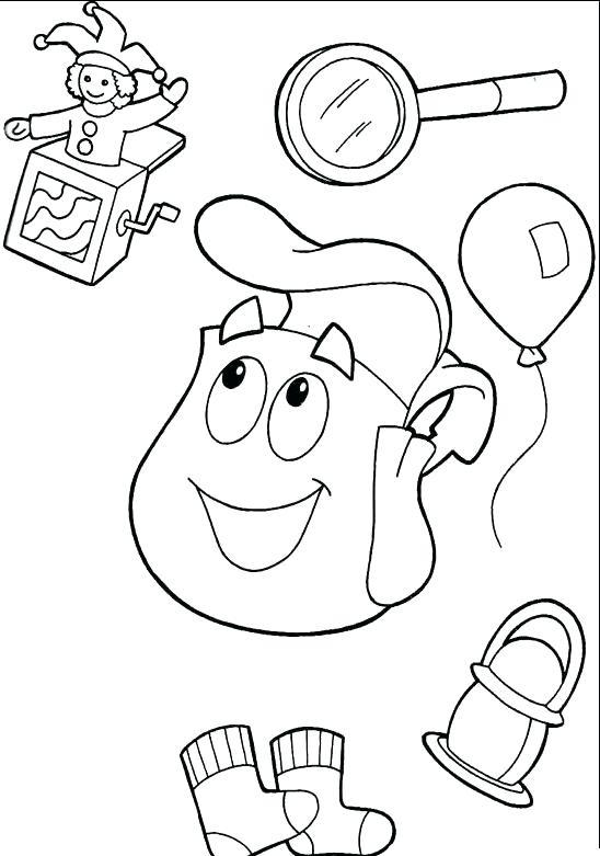 548x781 Dora Explorer Coloring Pages Appliances The Explorer Coloring