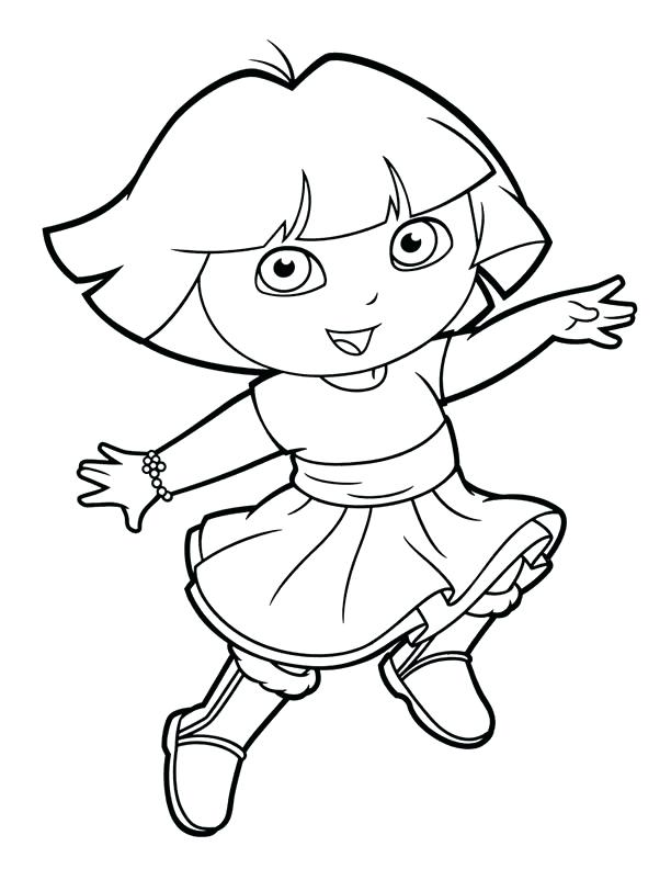 612x792 Dora Explorer Coloring Pages Coloring Dora The Explorer Printable