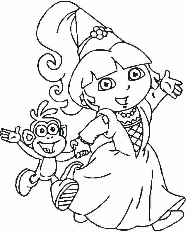 649x800 Dora Free Coloring Pages Free Coloring Pages Explorer Coloring