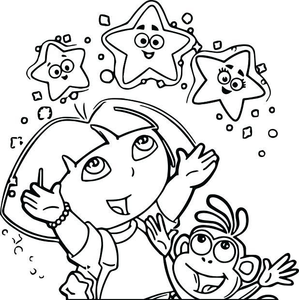 618x619 Dora The Explorer Coloring Page Coloring Dora Explorer Winter