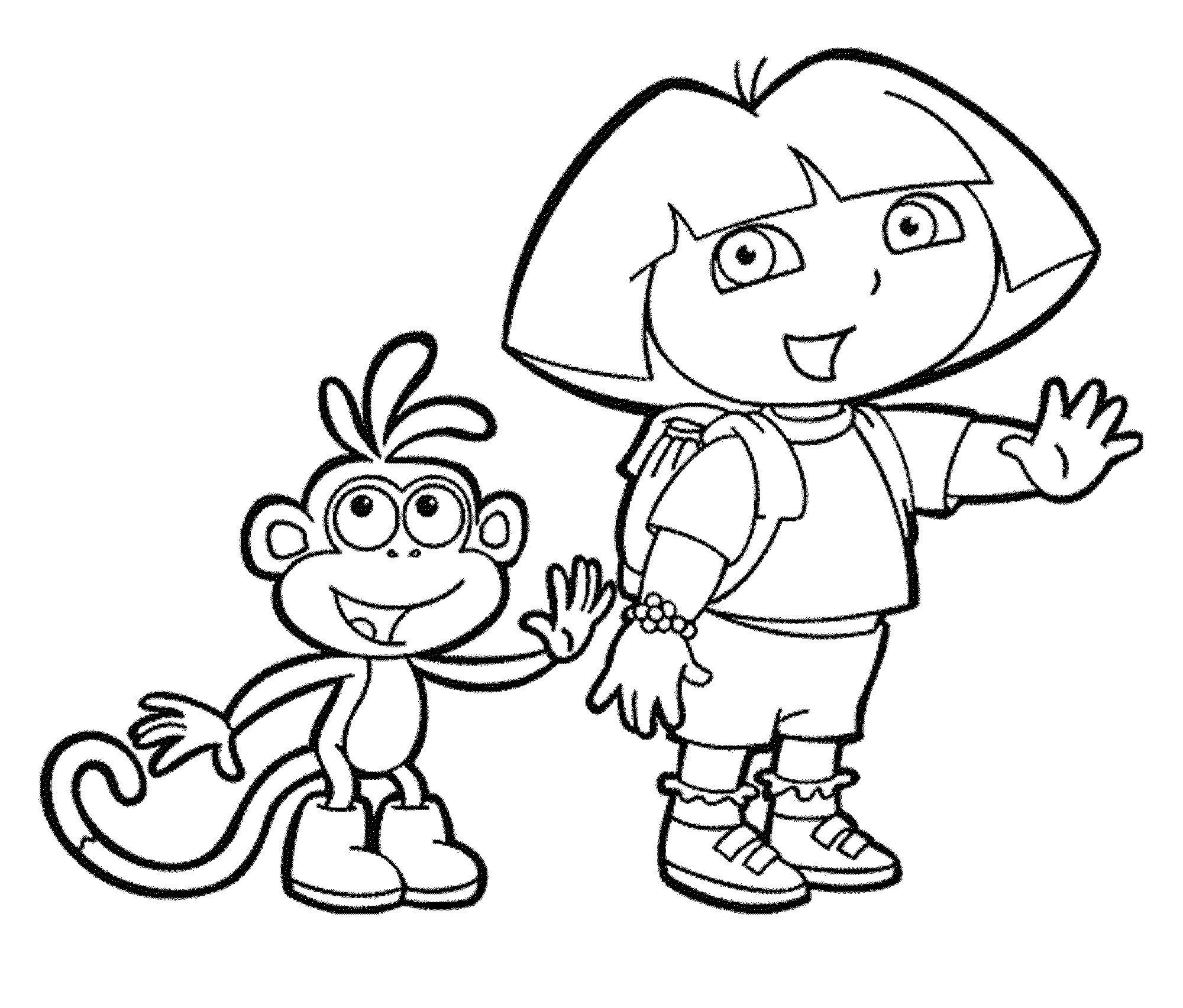 2000x1705 Free Coloring Pictures Dora Explorer Fresh Printable Dora