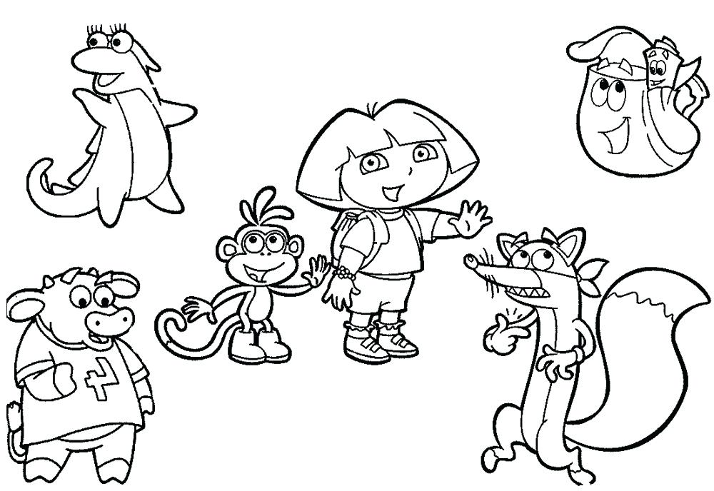 1000x688 Free Downloadable Dora The Explorer Colouring Pages Nick Jr Color