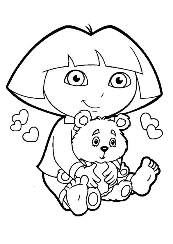595x842 Dora The Explorer Boots Coloring Pages For Kids Halloween