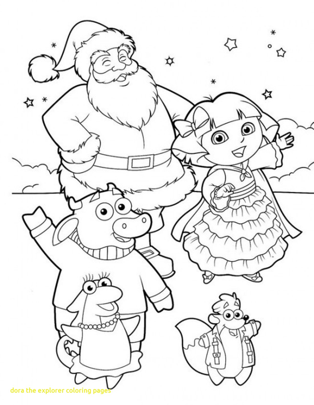 1227x1583 Free Coloring Pictures Dora