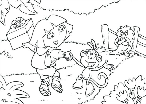 620x443 Dora Coloring Pages Coloring Pages Online Free Color Page