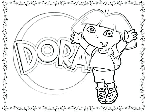 Dora The Explorer Coloring Pages At Getdrawings Com Free For