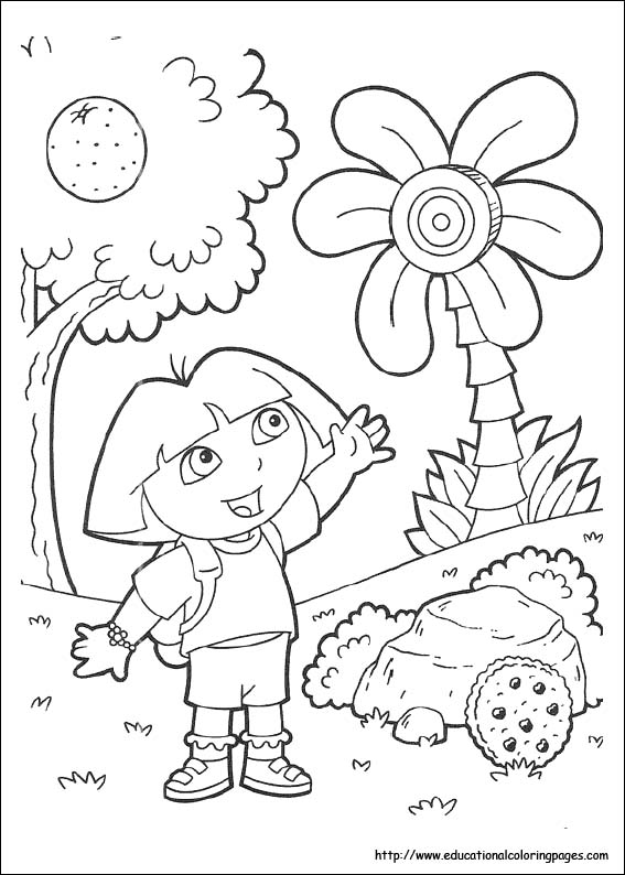 567x794 Dora Coloring Pages Dora The Explorer Coloring Pages