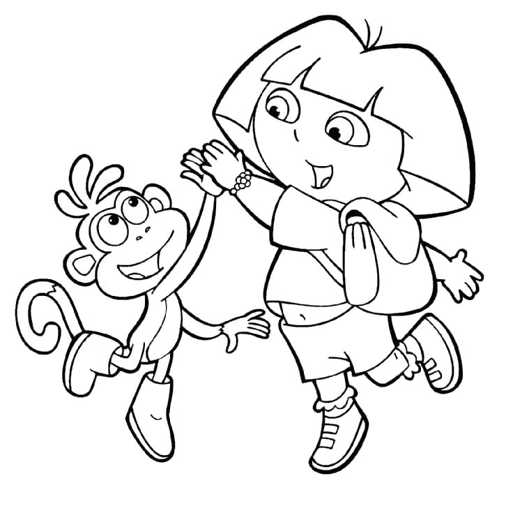 726x735 Dora Explorer Coloring Pages Birthday Coloring Pages Dora Explorer