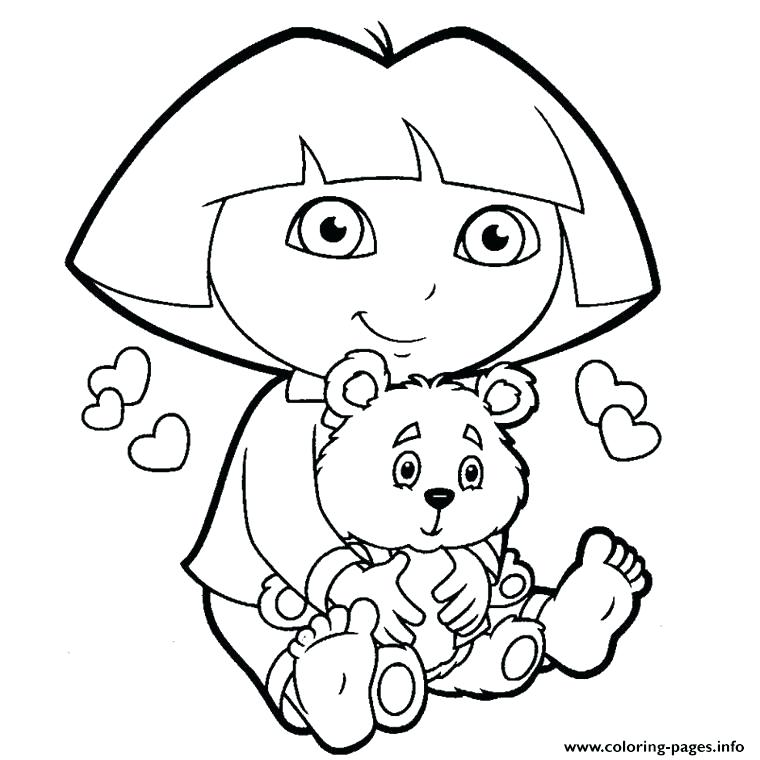 760x760 Dora Explorer Coloring Pages Explorer Coloring Pages Dora
