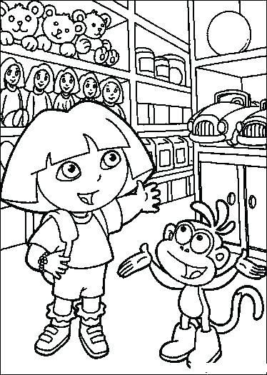 374x525 Dora Explorer Coloring Pages The Explorer Coloring Page Coloring