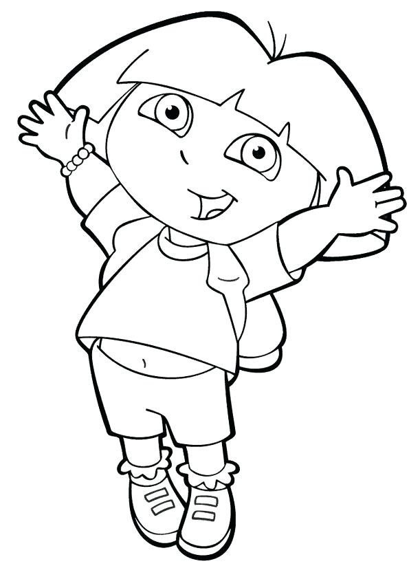 595x842 Dora The Explorer Coloring Pages The Explorer Coloring Page Beach