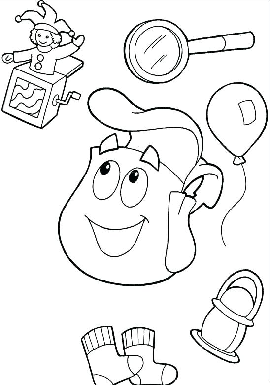 548x781 The Explorer Explorer Alphabet Coloring Pages K Dora