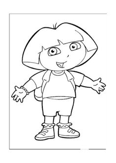 236x333 Dora The Explorer Coloring Pages