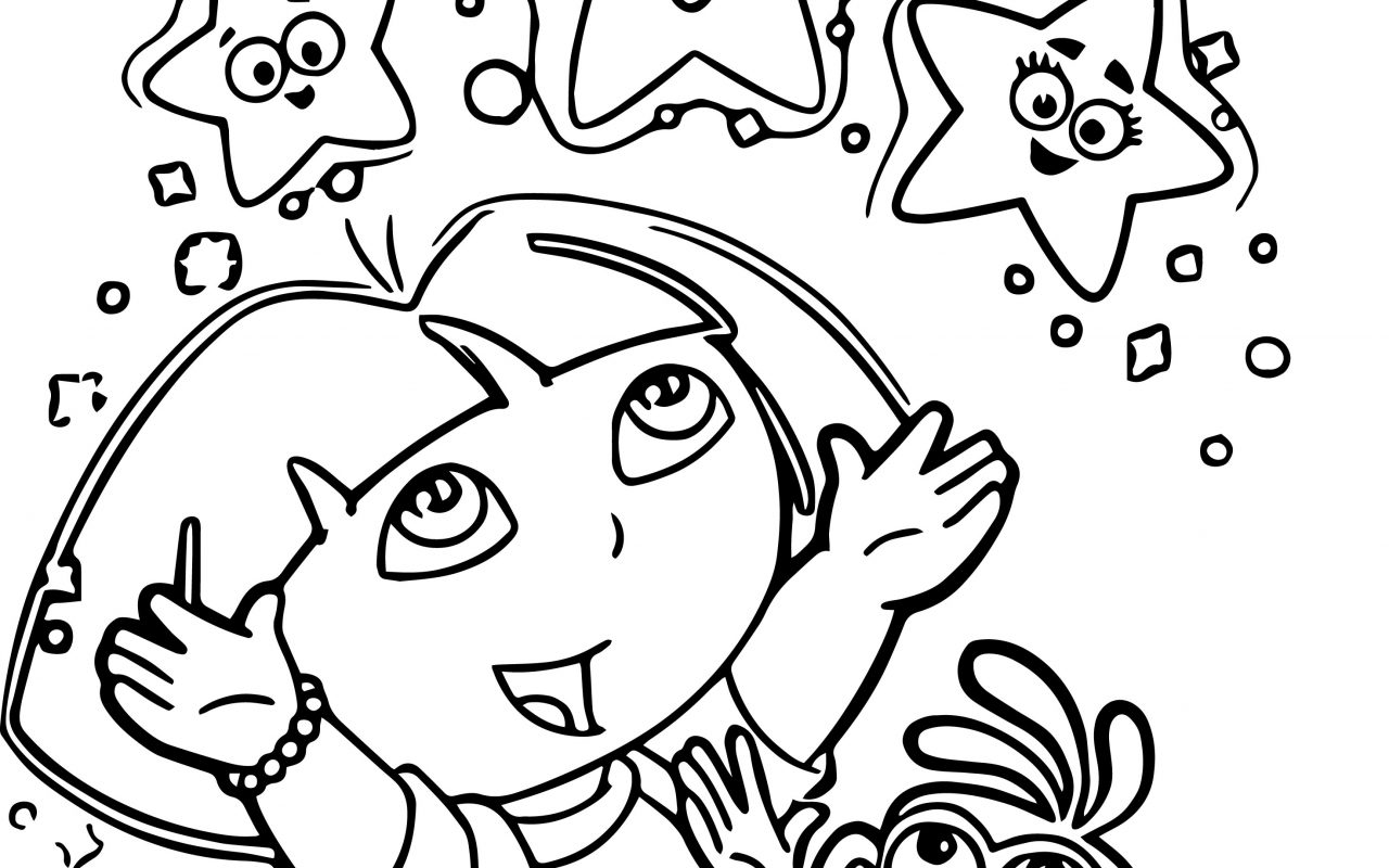 1280x800 Dora Coloring Lots Of Pages And Print Free Printable The Explorer