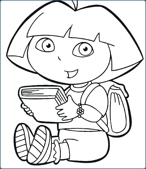 Dora The Explorer Printable Coloring Pages At Getdrawings Com Free