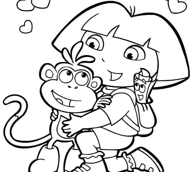 678x600 Dora Explorer Coloring Pages Wonderful The Explorer Coloring Pages
