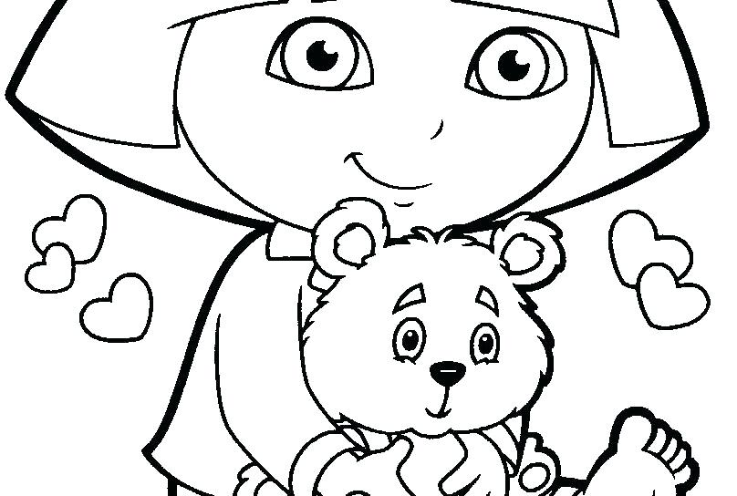 808x544 Dora Explorer Coloring To Rocks Coloring Song Sheets Dora