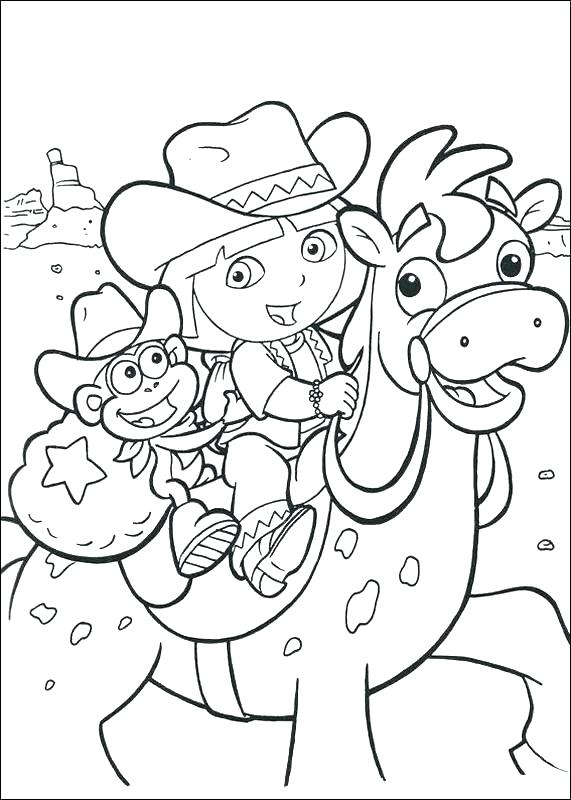 571x800 Dora Printable Coloring Pages Coloring Book Medium Size