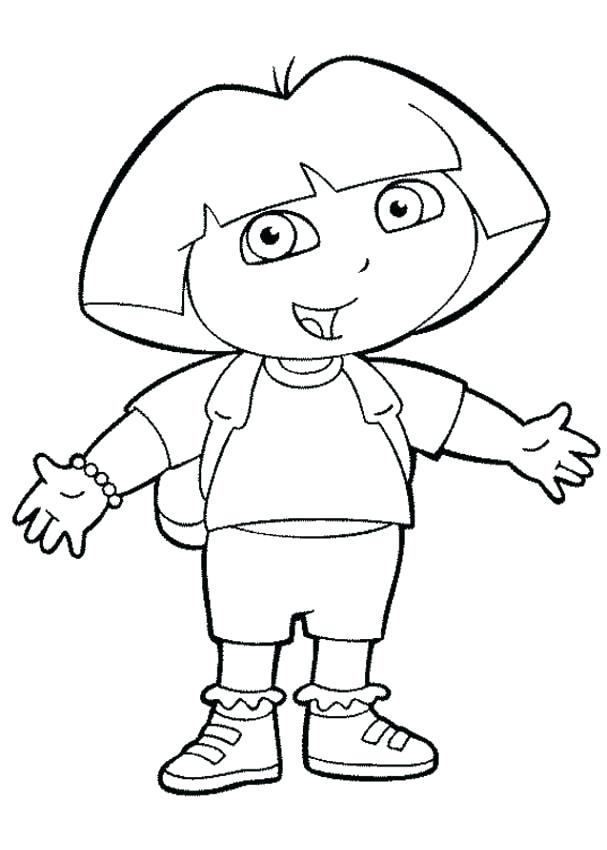 607x850 Dora The Explorer Color Pages Fresh Explorer Coloring Pages Free