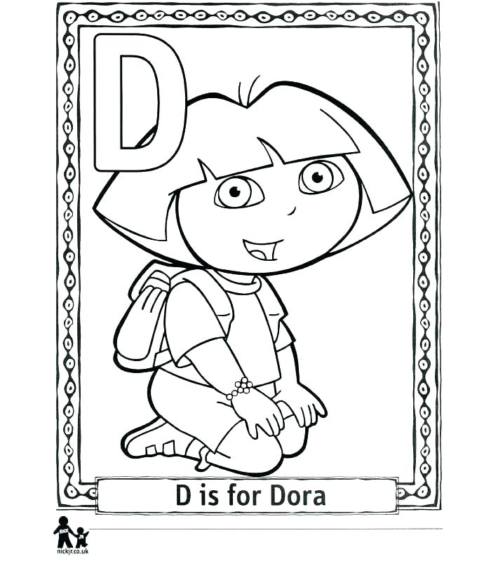 700x800 Dora The Explorer Colouring In Color Pages The Explorer Coloring