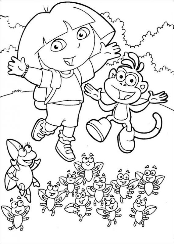 571x800 Free Printable Dora The Explorer Coloring Pages Nick Jr