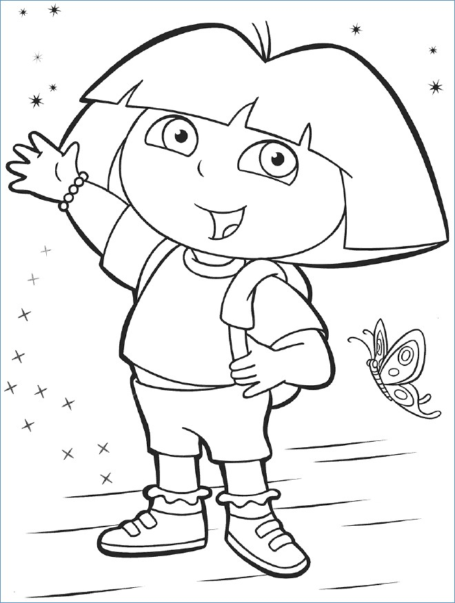 660x875 Walking Dora The Explorer Coloring Page
