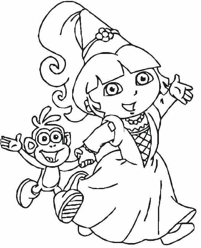 649x800 Dora Color Page Mermaid Coloring Pages Dora Explorer Coloring