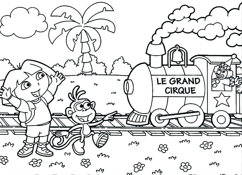 1024x743 Dora Color Pages Color Pages Printable Coloring Pages Free