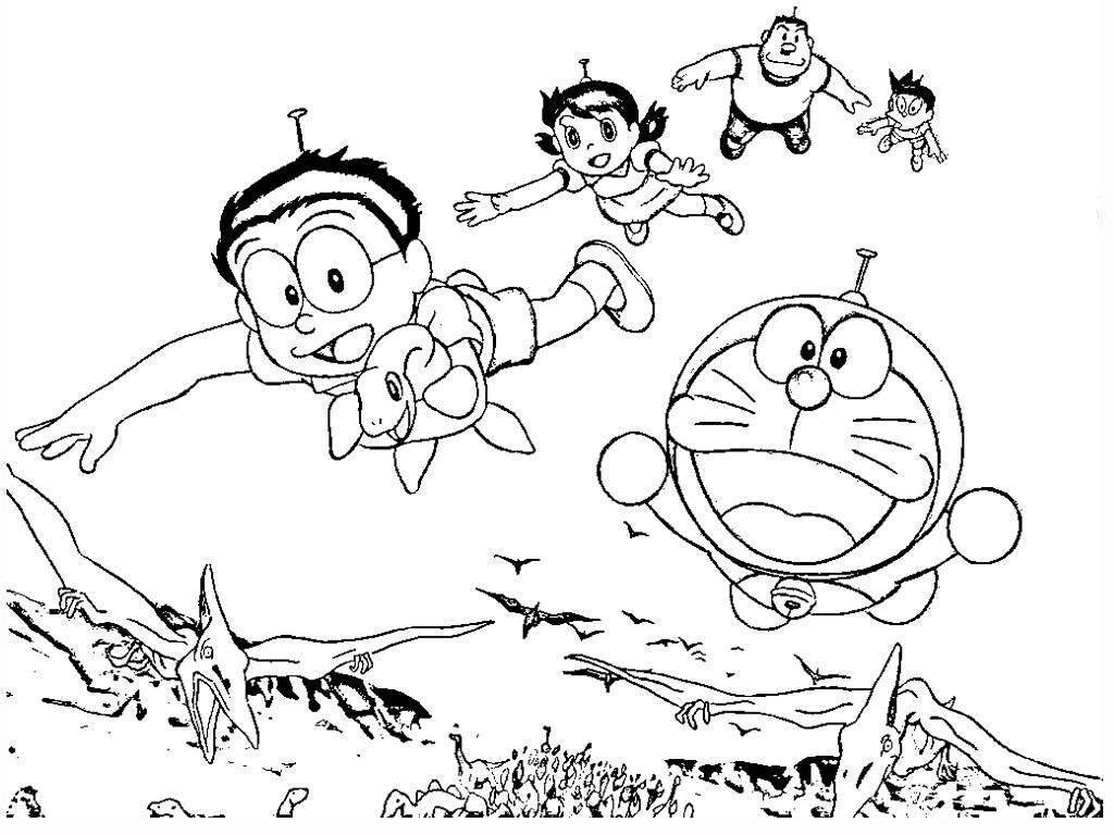 Doraemon Coloring Pages At GetDrawings