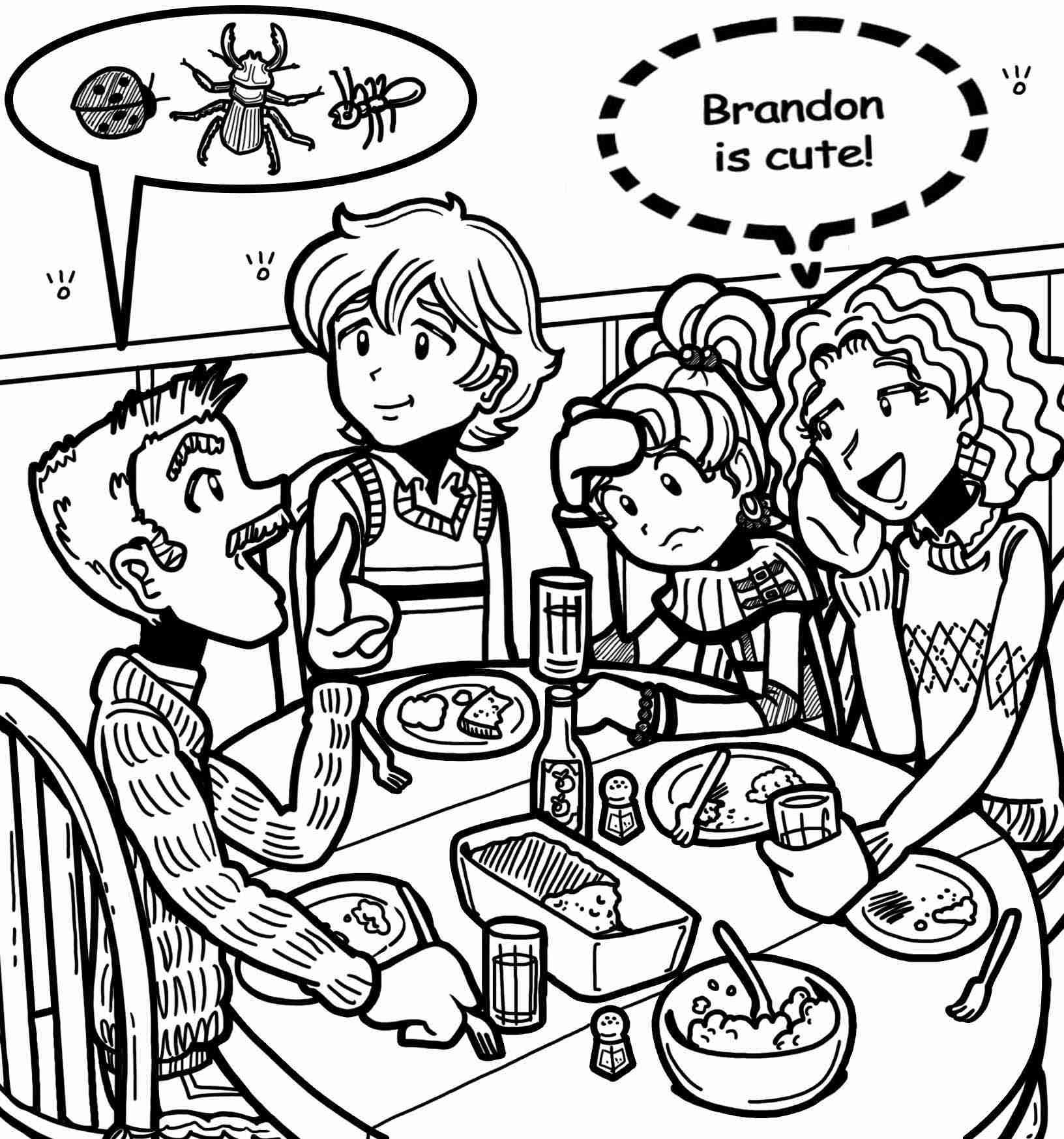 1632x1747 Dork Diaries Printable Coloring Pages Many Interesting Cliparts
