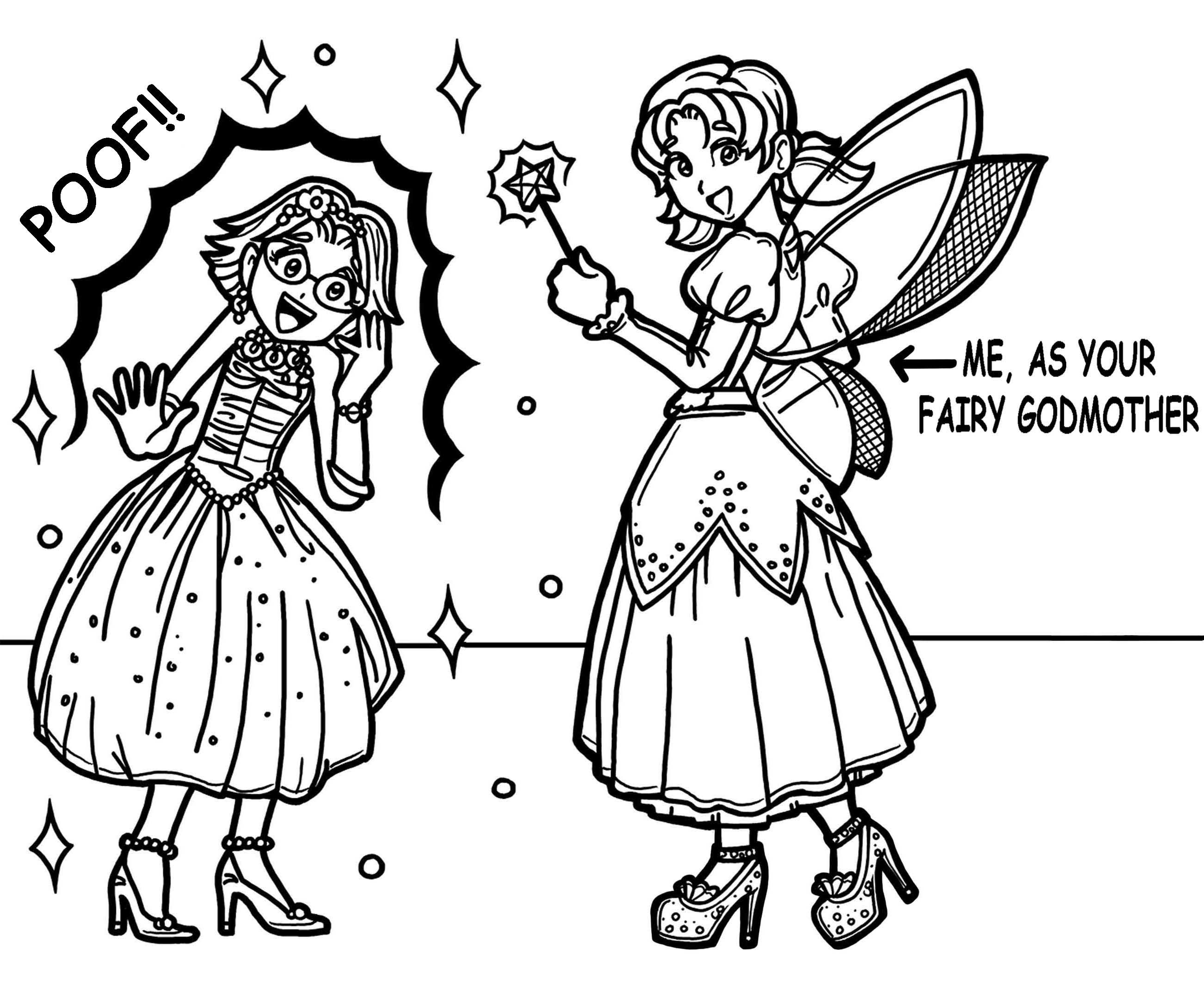 2605x2158 Dork Diaries Coloring Pages