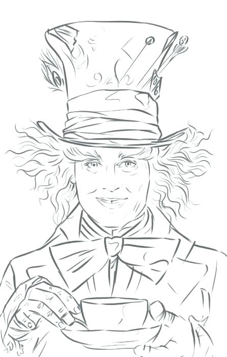 445x700 Mad Hatter Coloring Pages Awesome Packed With How To Draw