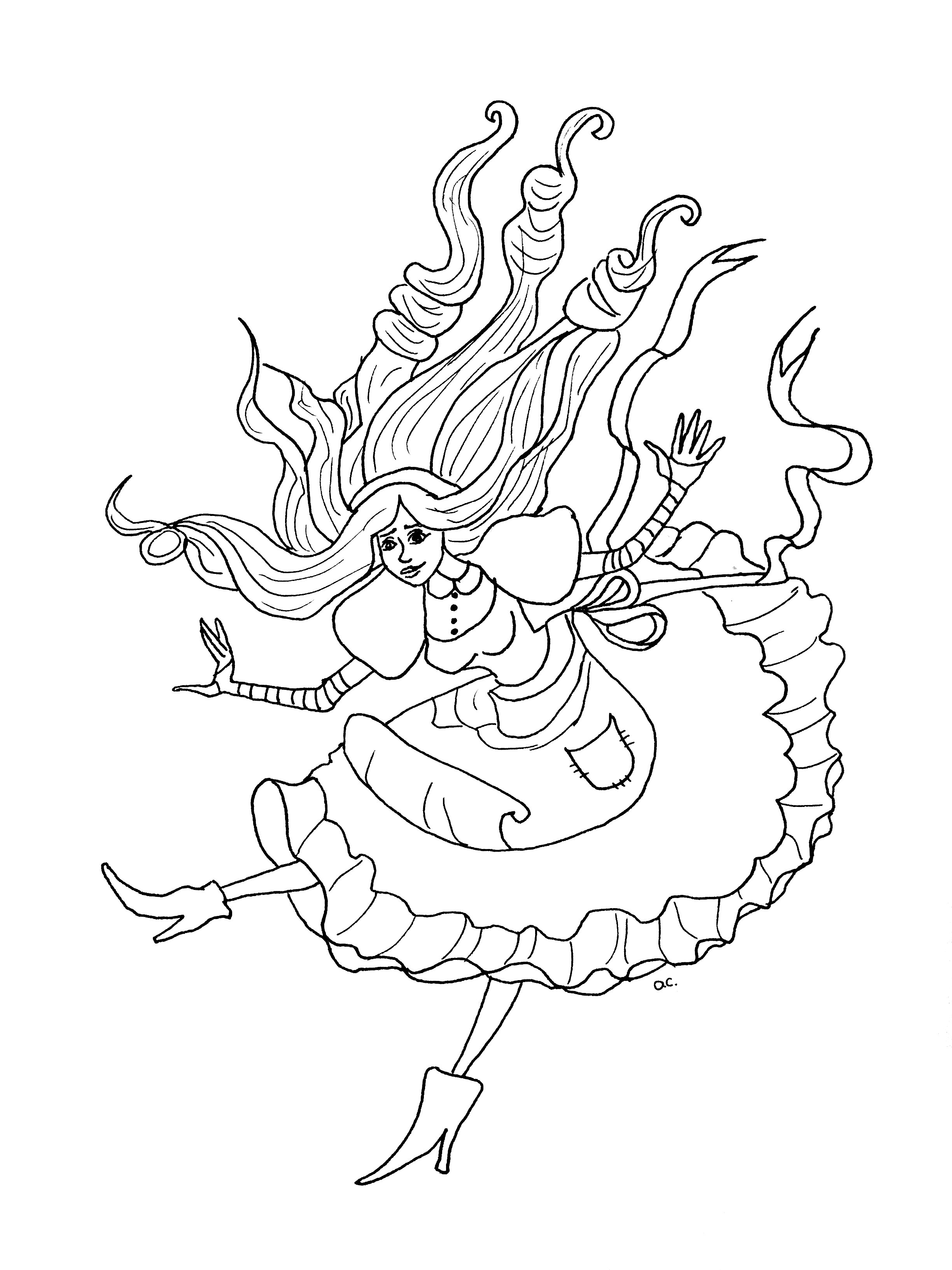 2448x3264 Alice Wonderland Coloring Pages For Adults Best Alice