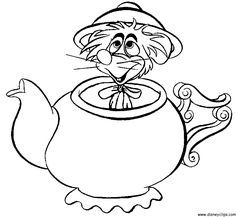 236x217 Alice In Wonderland Mad Hatter Tea Party Coloring Page Might Try