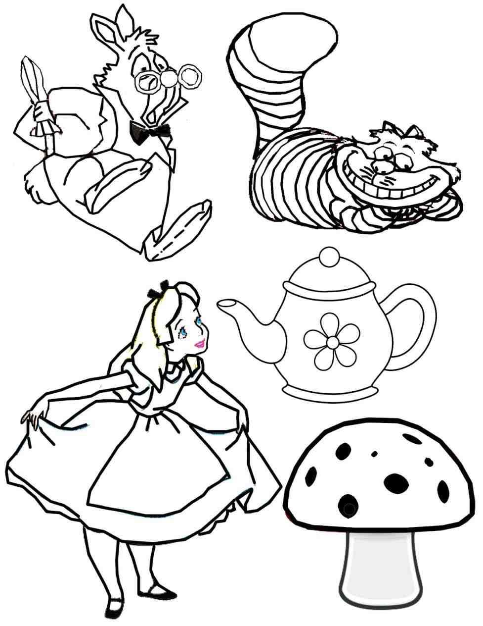 977x1264 Coloring The Dormouse Alice In Wonderland Alice In Wonderland