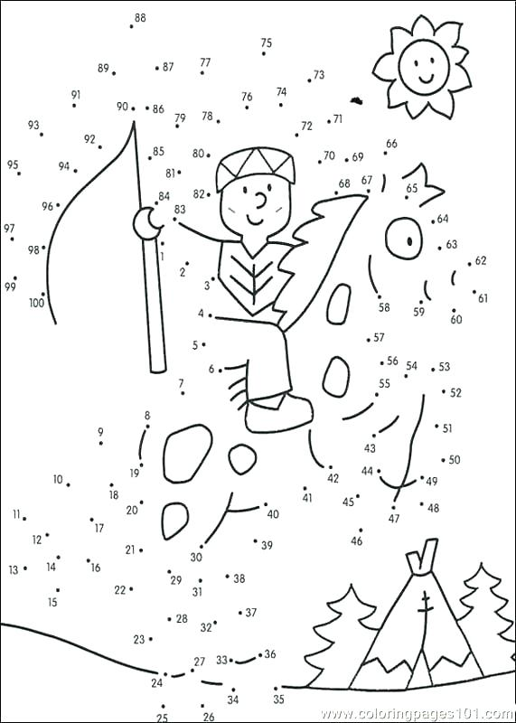 Dot To Dot Coloring Pages For Kindergarten At Getdrawings Com Free