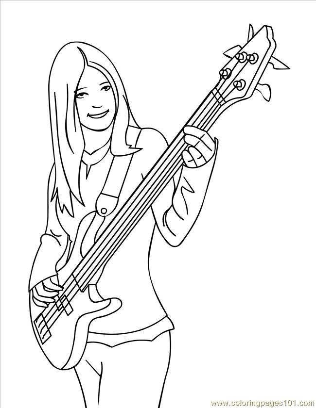 650x841 Bass Guitar Coloring Pages