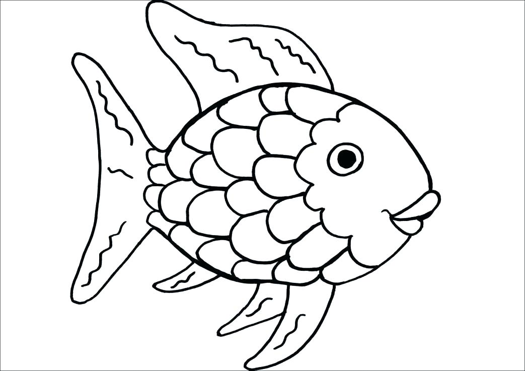1043x737 Bass Fish Coloring Pages