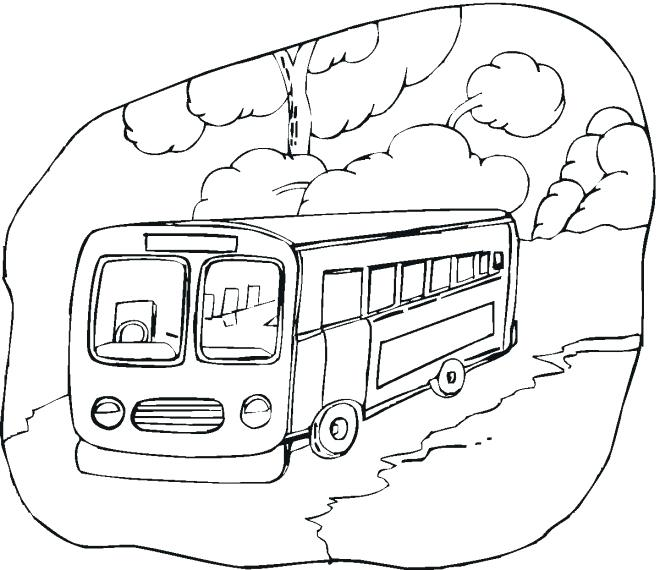 660x570 Coloring Page Bus Bus Coloring Page Bus Colouring Pages A Double