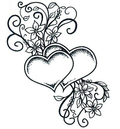 Double Heart Coloring Pages