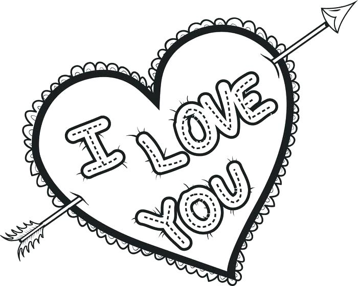 700x560 Coloring Pages Heart Colouring Pages Love Heart Valentines Heart