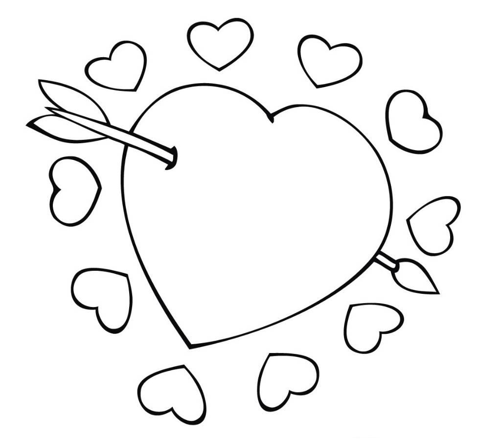 981x900 Double Heart Coloring Pages
