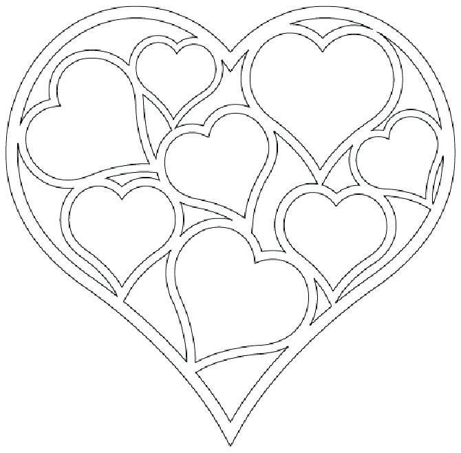 670x658 Double Heart Coloring Pages Double Heart Coloring Pages Coloring