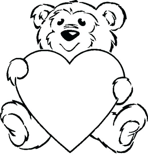 520x547 Heart Coloring Page Basic Shapes Coloring Pages Basic Shapes Free