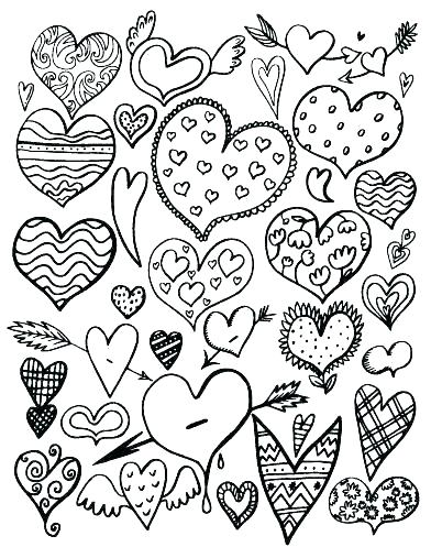392x507 Heart Coloring Sheets Double Heart Coloring Pages Printable Human