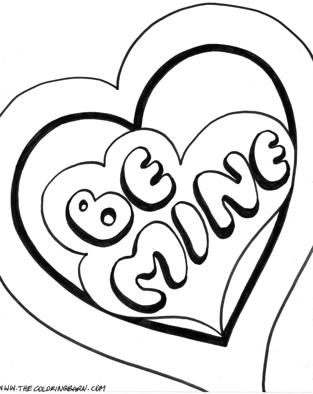 1000x1258 Skill Double Heart Coloring Pages Cute Valenti